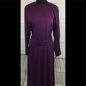 Rabbit Rabbit Rabbit  Vintage Dress Size 12 Purple
